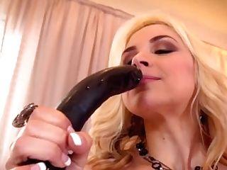 Sarah Vandella Uses A Big Tool In Her Cock-squeezing Poon
