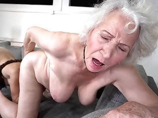 Retirement Bounty - Old Gilf Norma B And Youthful Dark-haired Tiffany Doll In Lezzy Activity