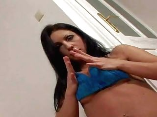 Smoking Hot Black Haired Stunner With Jaw Ripping Off Rock Hard Hooters