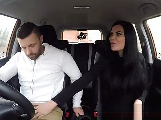 Faux Driving School Lucky Youthful Lad Seduced By His Buxom Cougar Examiner