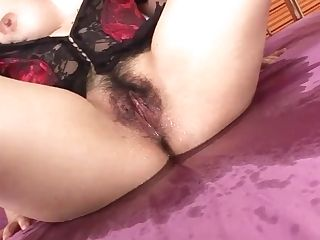 Hot And Huge-titted Dark-haired Honey In Undergarments Fondled And Fucked - More At Javhd.net