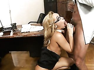 Lewd Nerdy Chief Aleska Diamond Gets Her Raw Puss Tongued And Fucked Well