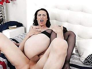 Insatiable Messy Haired Dark Haired Casey Calvert Wanna Rail Fat Boner Boner