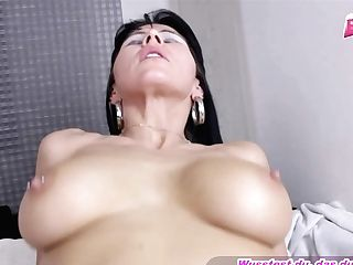 German Mommy In Pink Nylons And Nice Big Natural Tits Fuck In Matures Mummy Vag