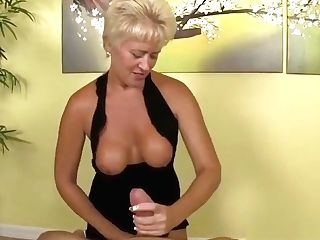 Buxom Matures Tugging Dick And Gets Cumontits