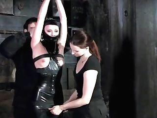Black Spandex Tying