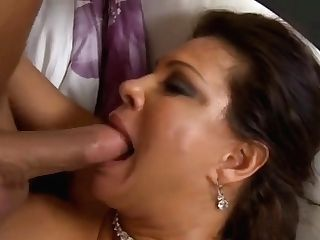 Snazzy Silicone Jugged Experienced Lady Teri Weigel Gives A Magic Bj