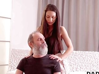 Daddy4k. Beautiful Dame Cheats On Her Beau With His Nice Patriarch