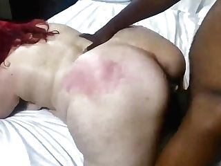Ginger-haired Sbbw With Fat Analed In Rear End In Interracial Flick