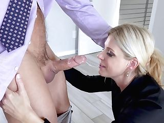 Muscular Boy Fucks The Matures Assistant Until Packing Her Bum