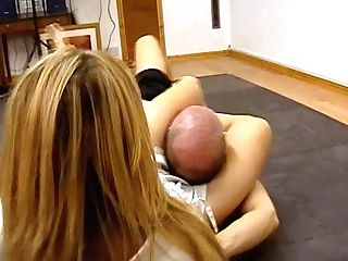 Mixed Grappling And Footfetish With A Hot Karate Mistress