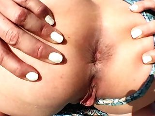 Sugary Lopez Close Up Asshole Spread On Brach