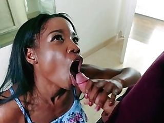 Dark-hued Mom And Her Slender Daughter-in-law, Special Interracial At Home