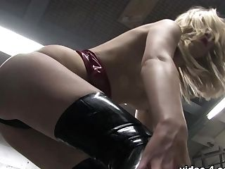 Rosalie In Crimson Top And Stockings - Latexheavenvideo