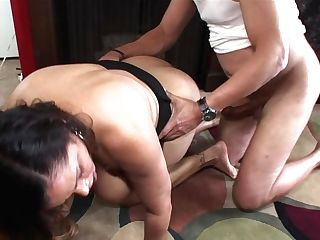 Black-haired Latina Gets Face Fucked By Mans Hard Dick