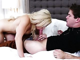 Faux Tittied Blonde Cristi Ann Hooks Up With Her Fresh Neighbor