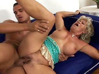 Wondrous Mulatto Boy Pounds Gross Matures Mega-slut In Sideways Pose Hard