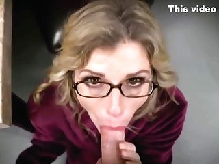 Big Titted, Blonde Mommy Is Impatiently Sucking Dick To Make It Hard Enough For Her Trimmed Cunny