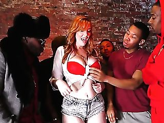 Phat Titted Ginger Bar Woman Lauren Phillips Gets Hammered By Big Black Cock Owners