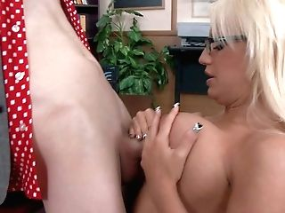 Dirty Blonde And Intense Chested Lecturer Jacky Joy Luvs In