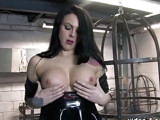 Ashleigh D In Trans Blue Catsuit - Latexheavenvideo