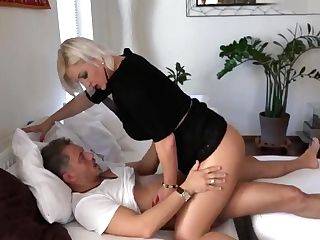 Horny Blonde Matures Cousin Comes For Lovemaking