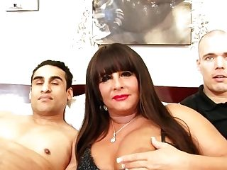 Bbw Mummy Vs Two Spunk-pumps Threesome