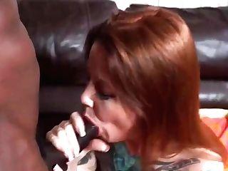 Chubby Ginger-haired Mummy Fucks Black Bone